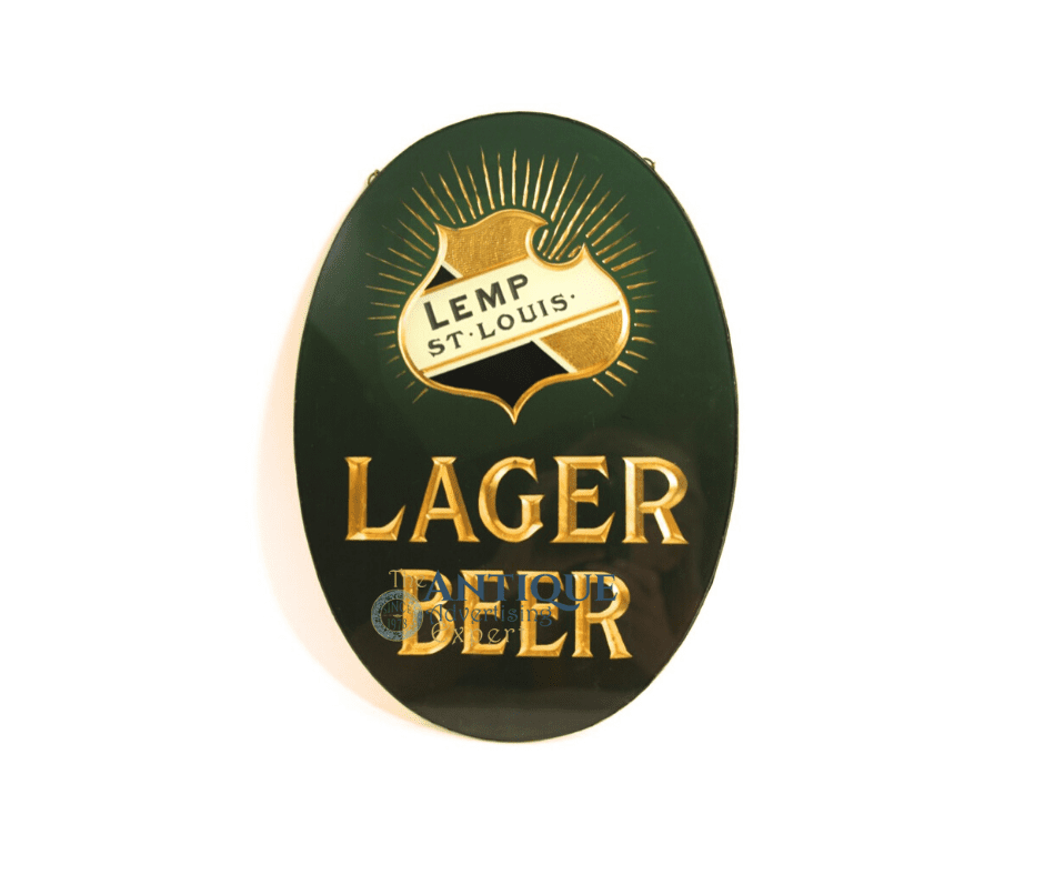 Lemp Green ROG Lager Sign, St. Louis, MO. Circa 1900
