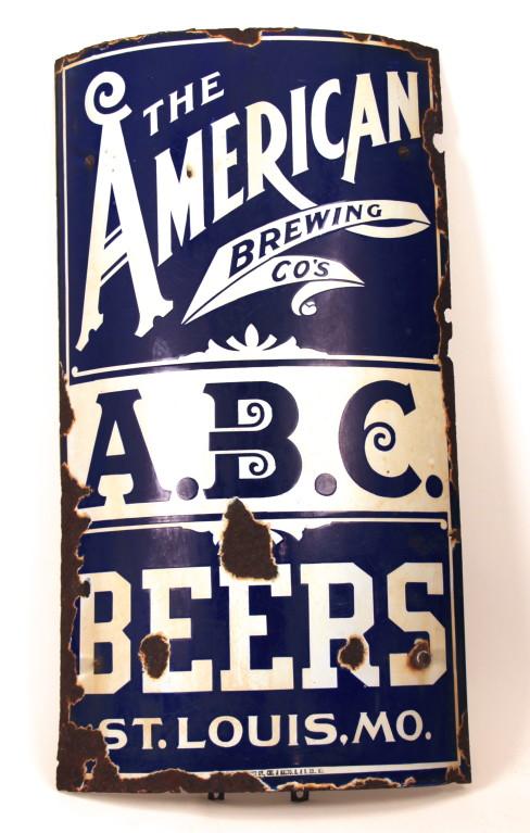 American Brewing Co Enamel Sign 1900