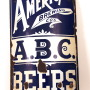 American Brewing Co Enamel Sign 1900