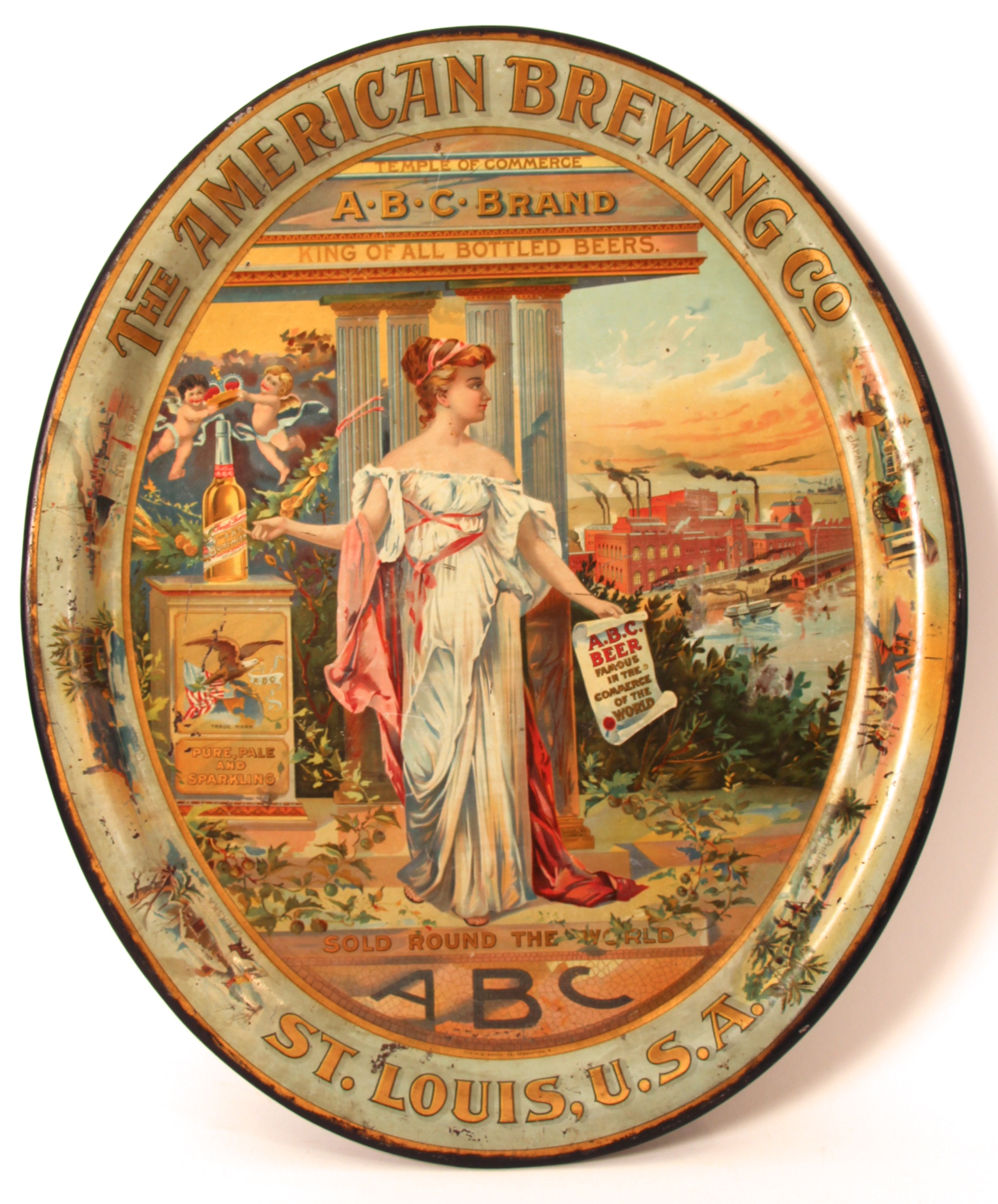 American Brewing Company Temple of Commerce Tray