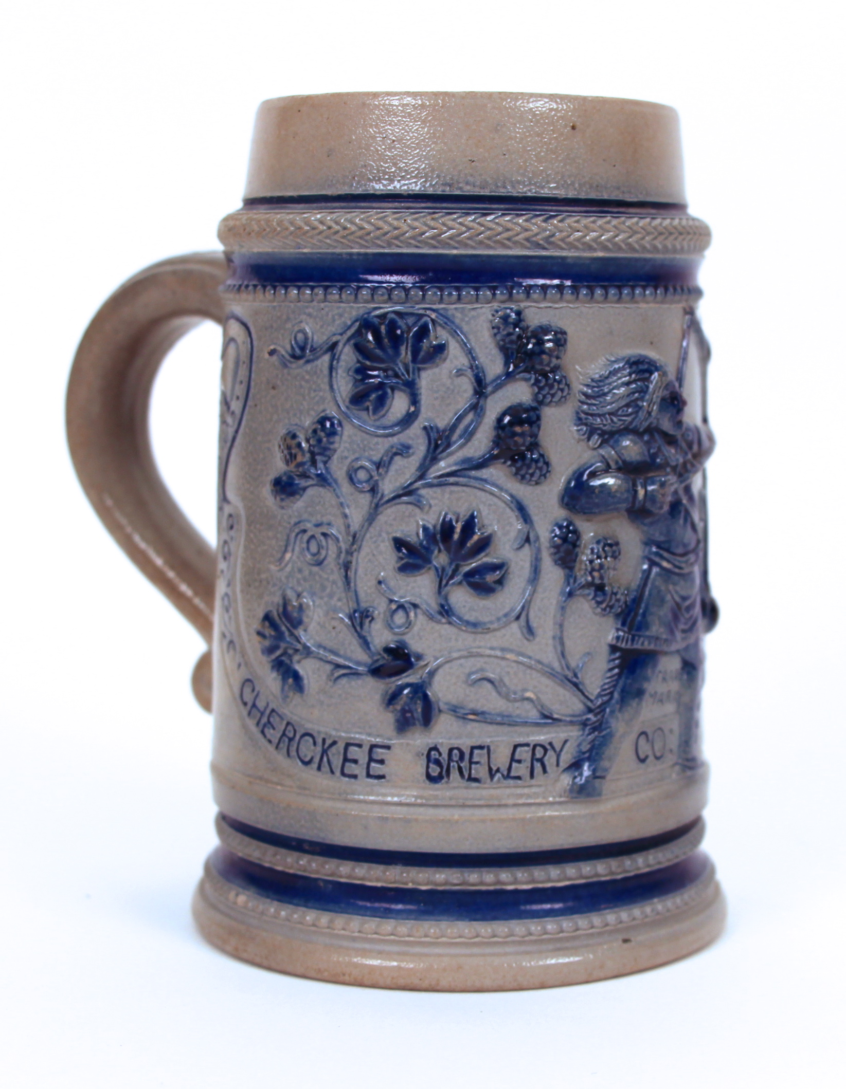 Cherokee Brewery Beer Mug 1890 Side View