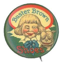 Buster Brown Shoes Button