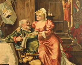 FALSTAFF BEER LITHO SIGN 1907 -