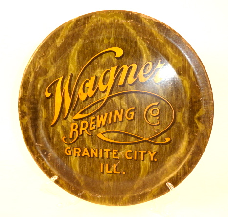 Wagner Brewing Co, Serving Tray, Granite City, IL, 1935