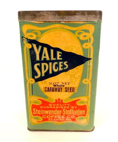 Yale Spices Box, Steinwender-Stoffregen Coffee Co., St. Louis, MO 1910