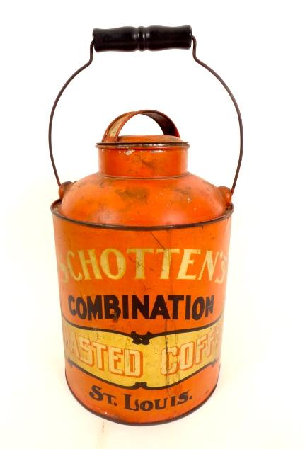 Schotten's Coffee Milk Pail Tin, St. Louis, MO 1915