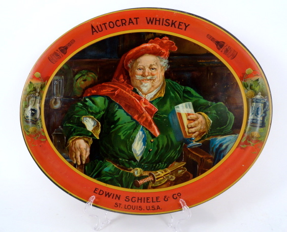 Autocrat Whiskey Serving Tray, St. Louis, MO 1905