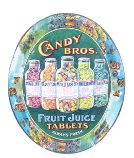 Candy Bros. Fruit Juice Tablets Serving Tray, St. Louis, MO 1910