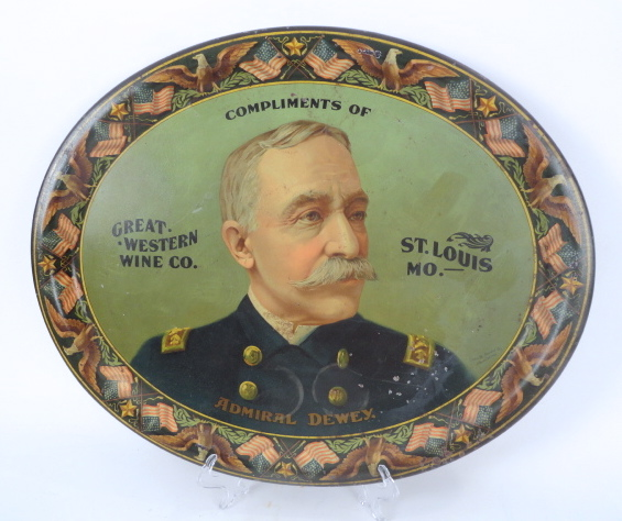 Great Western Wine Co, St. Louis, MO Serving Tray 1895