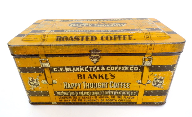 Blanke's Happy Thought Coffee Tin, St. Louis, MO 1920