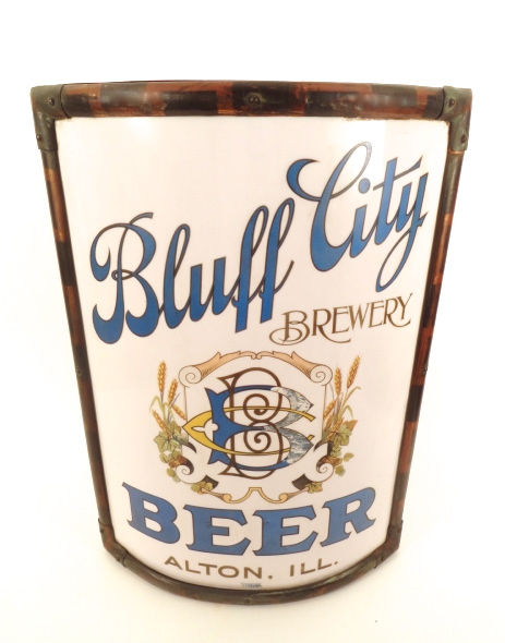 Bluff City Brewery Vitrolite Corner Sign 1915