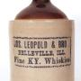 Jos. Leopold & Bro. Whiskey Stoneware Jug, Belleville, IL 1905