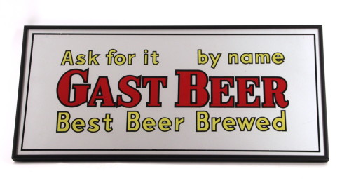 Gast Beer Sign, Gast Brewery, St. Louis, MO. Circa 1950 Repro