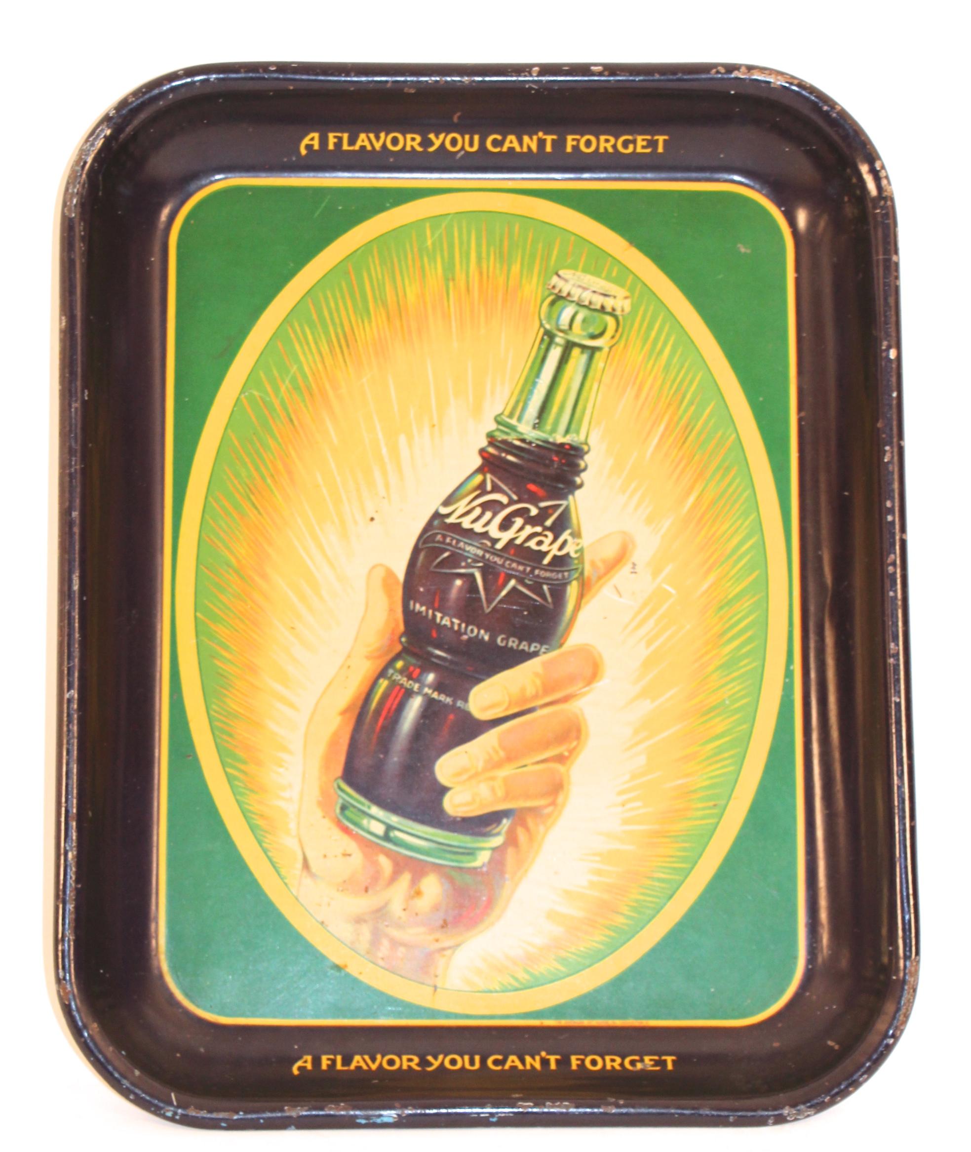 NuGrape Soda Serving Tray. Circa 1940