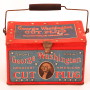 George Washington Cut Plug Lunch Box Tobacco Tin. Circa 1910