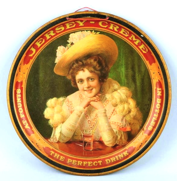 Jersey Creme Perfect Drink Serving Tray. Circa 1910