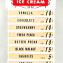 Sealtest Ice Cream Menu Board. Circa 1950