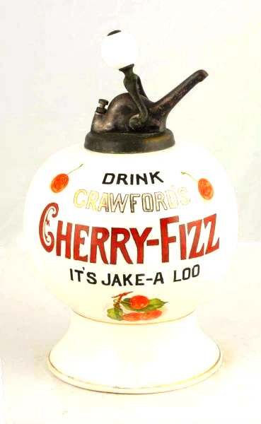 Crawford's Cherry-Fizz Syrup Soda Dispenser, Circa 1920