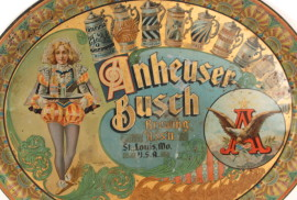 Anheuser-Busch Court Jester Beer Tray 1898