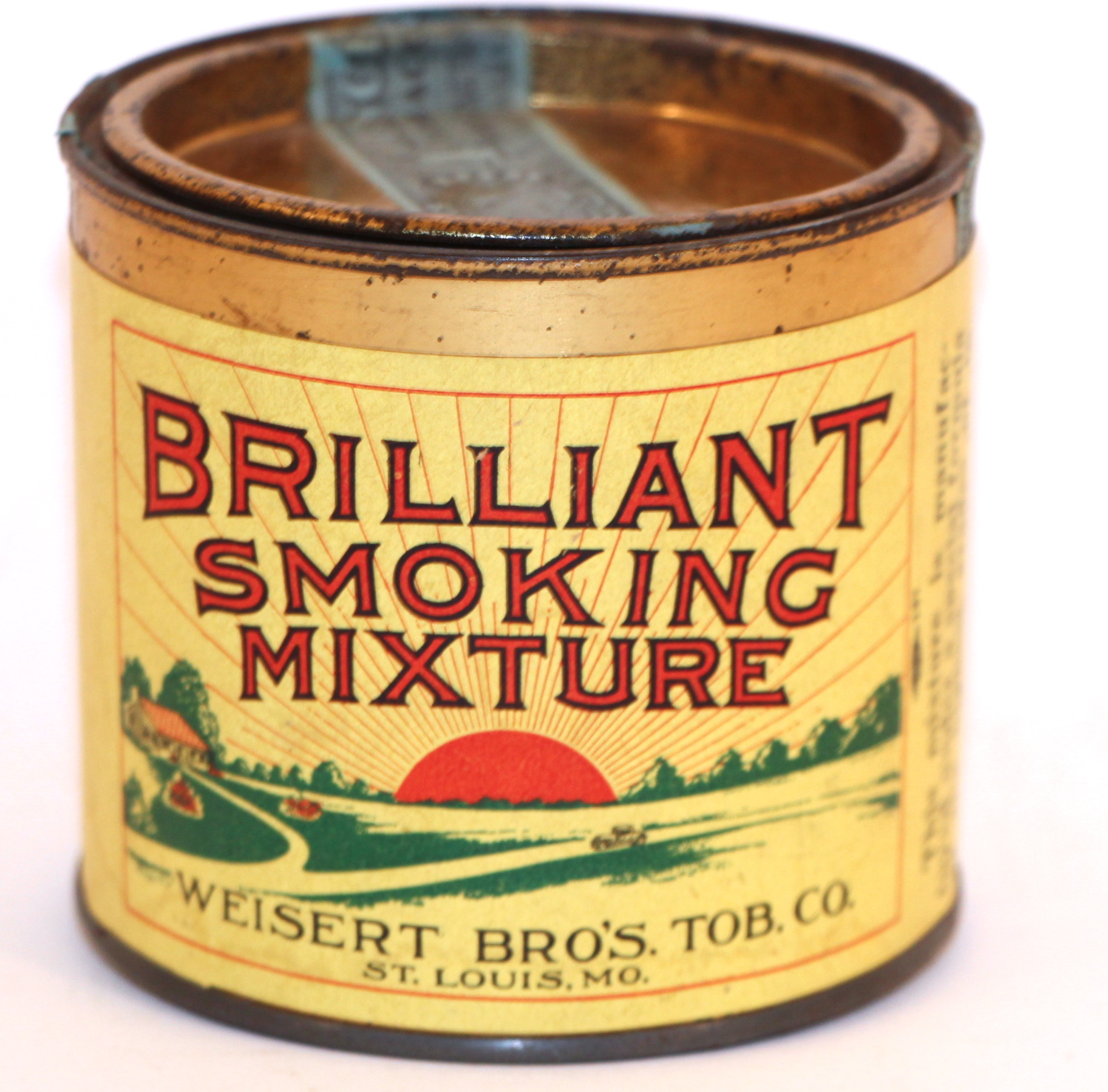 Brilliant Smoking Mixture, John Weisert Tobacco Co., St. Louis, MO