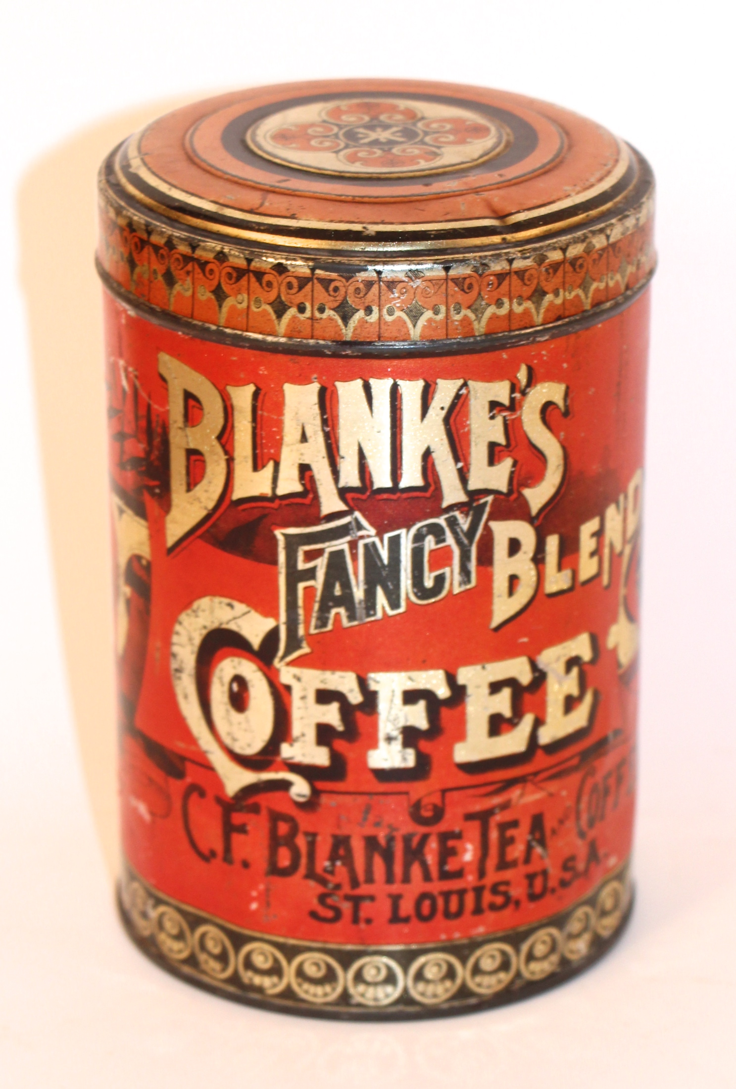 Blanke's Fancy Coffee Tin, St. Louis, MO
