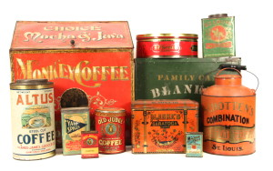 Coffee, Tea & Spice Tin Collectibles 1880 - 1920's