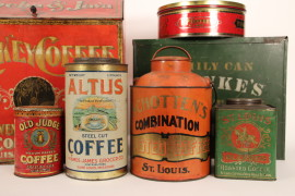 Coffee & Tea Tin Collectibles 1880- 1920's