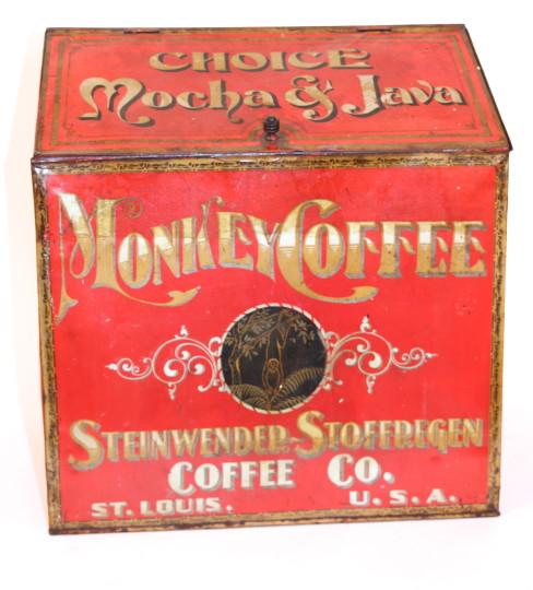 Monkey Coffee Store Bin, Steinwender-Stoffregen Coffee Co., St. Louis, MO