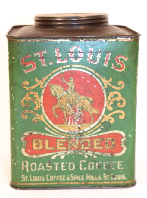 St. Louis Blended Coffee Tin, St. Louis Spice & Tea Co. St. Louis, MO