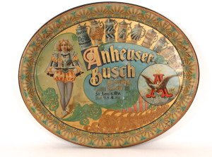 "Anheuser-Busch ""Court Jester"" Beer Serving Tray 1898"