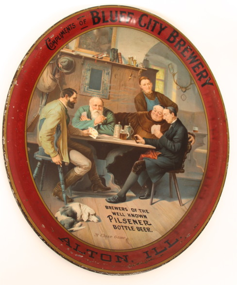 Bluff City Brewery Serving Tray, 1900