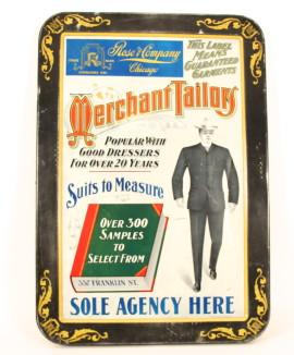 Rose & Co. Merchant Tailors Self-Framed Tin Sign 1901