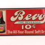 Anheuser Busch Bevo Year Round Beverage Embossed Sign