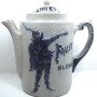 Blanke Faust Stoneware Coffe Pot, Blanke Coffee & Tea Co., St. Louis, MO. Circa 1910