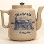 Blanke's Log Cabin Stoneware Tea Pot