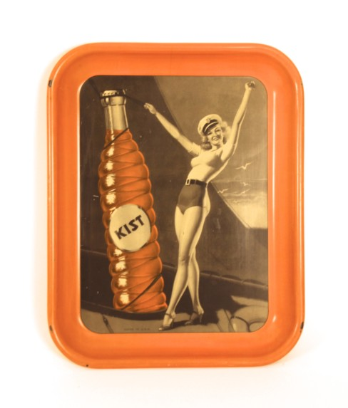Kist Soda Metal Serving Tray 1940