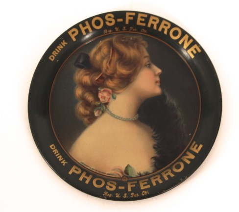 PHOS- FERRONE Soda Mineral Water Tip Tray 1910, St. Louis, MO