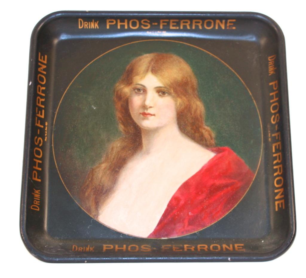 Phos-Ferrone Serving Tray, Phos-Ferrone Manufacturing Co., St. Louis, MO 1905