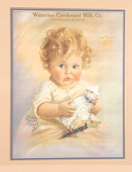 Waterloo Milk Co. Lithograph 1922