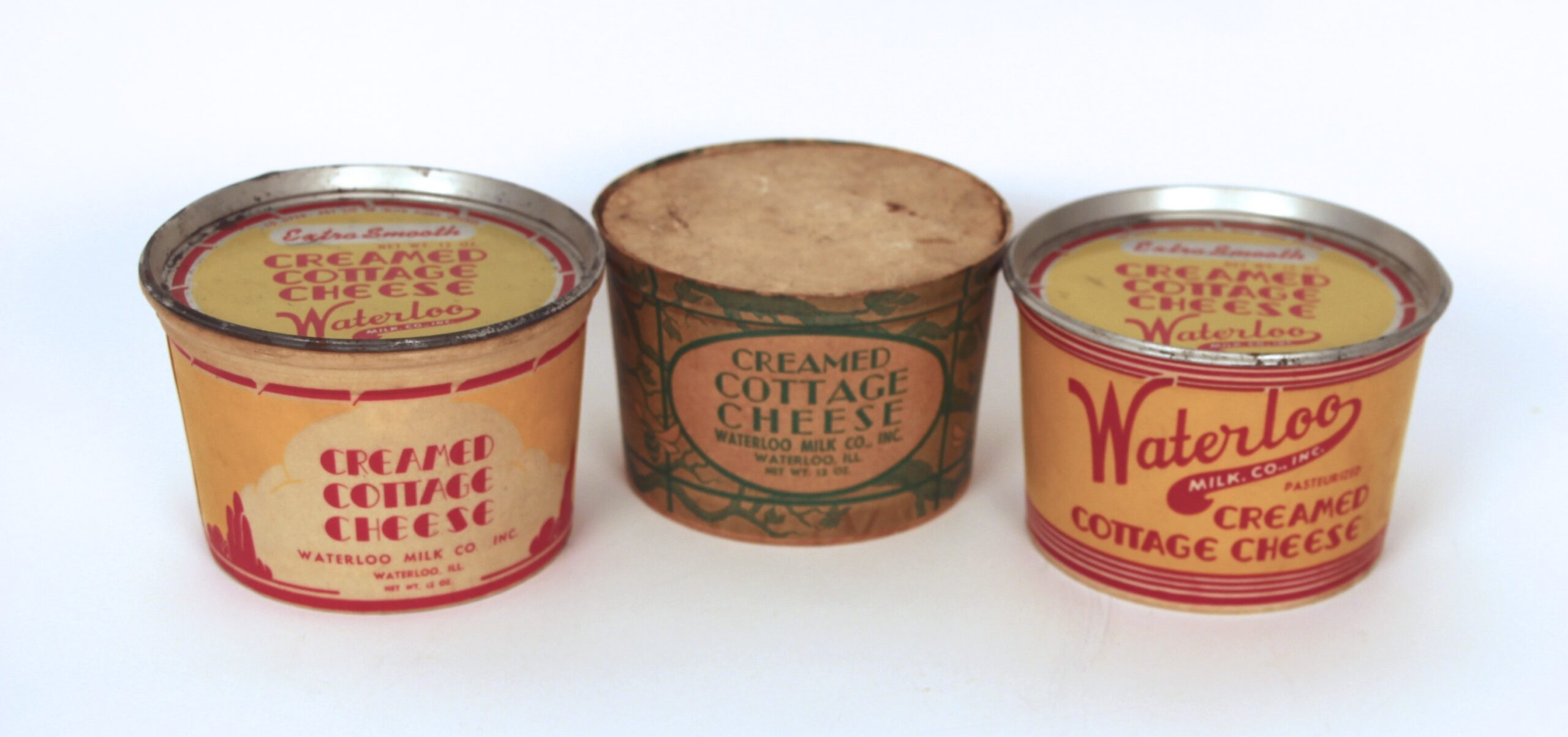 Waterloo Milk Co. Cottage Cheese Packaging, 1950's