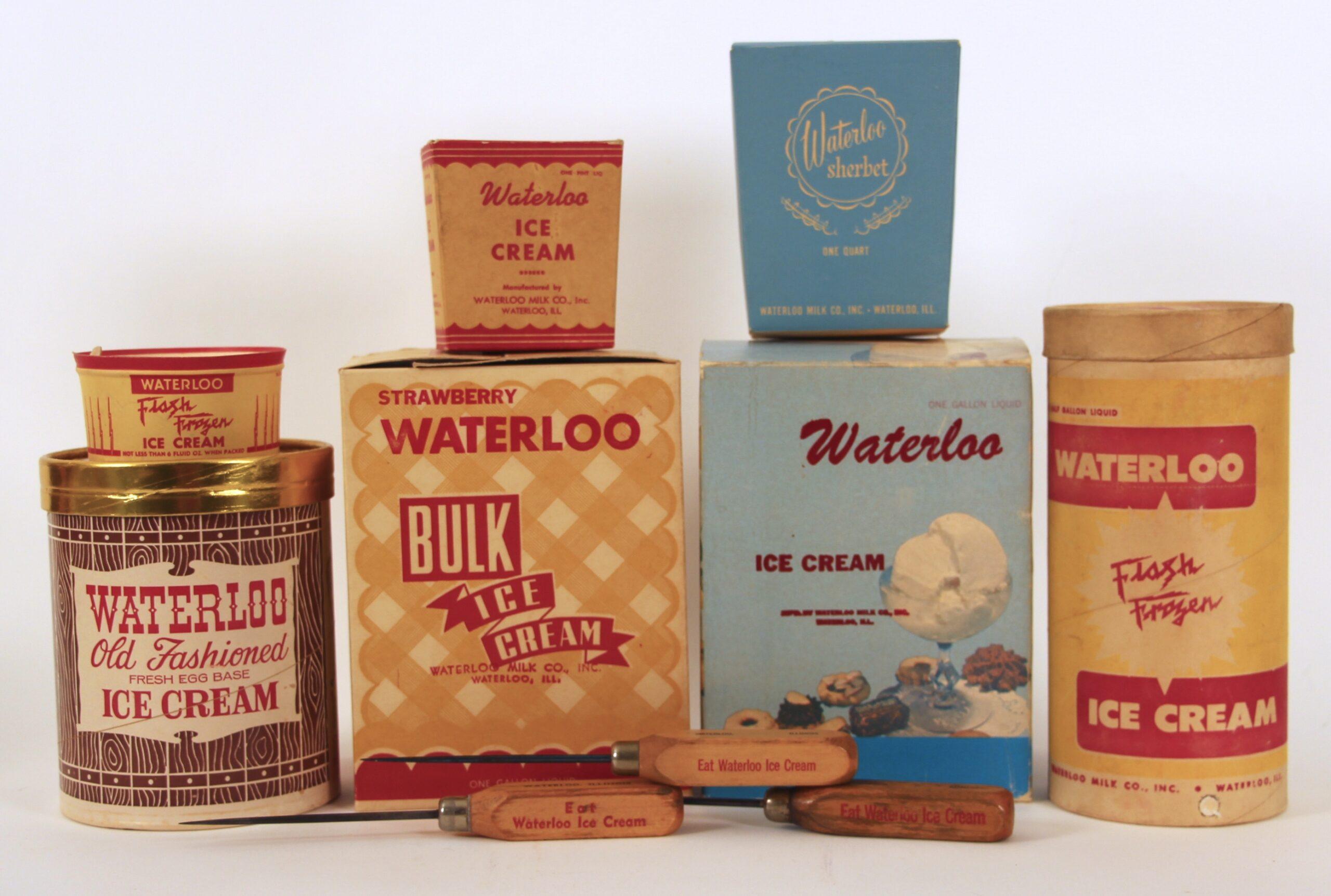 Waterloo Milk Co.Vintage Ice Cream Memorabilia