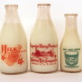 "Waterloo Milk Co. Vintage Milk Bottles ""Milk Belongs in Every Meal"""