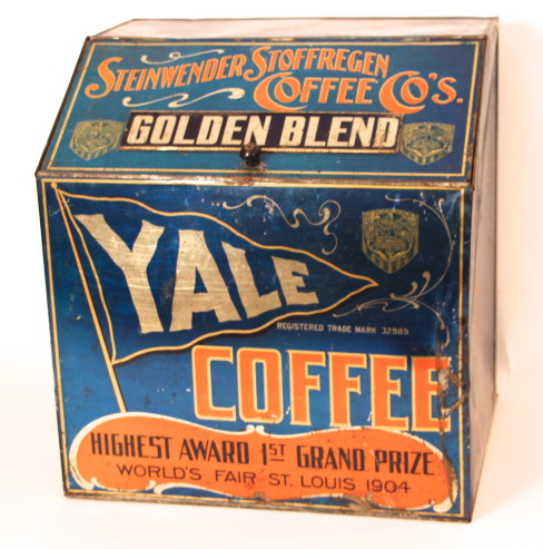 Yale Coffee Steinwender-Stoffregen Coffee Store Bin. 1904 World's Fair Grand Prize
