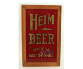 Heim Brewery ROG Corner Sign, East St Louis, IL. Circa 1910