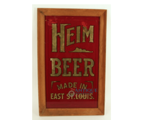 Heim Brewery ROG Corner Sign, East St Louis, IL. Circa 1910