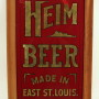 Heim Brewery Reverse on Glass Beer Corner Sign, East St. Louis, IL. Circa 1905