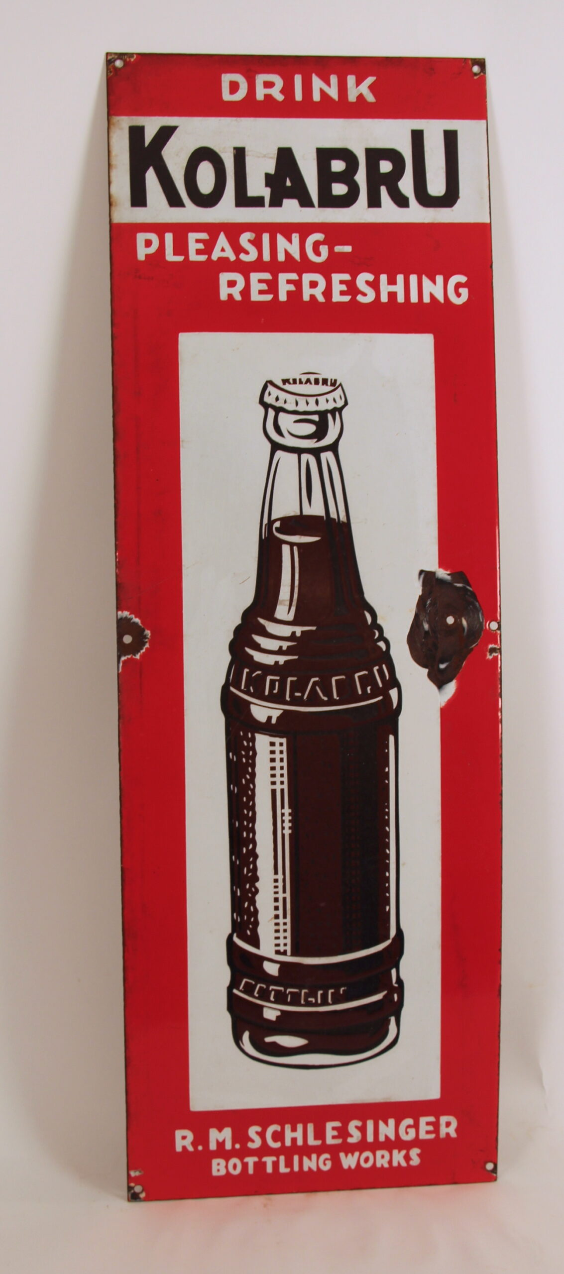 Kolabru Metal Sign, Michael Schlesinger Bottling Works