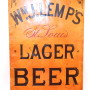 Wm. J. Lemp Brewing Co. Lager Beer, Metal Sign, St. Louis, MO. Circa 1885