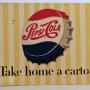 Pepsi-Cola Porcelain Sign, 1950's