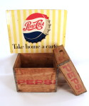 1950's Pepsi Sign and Wooden Crates